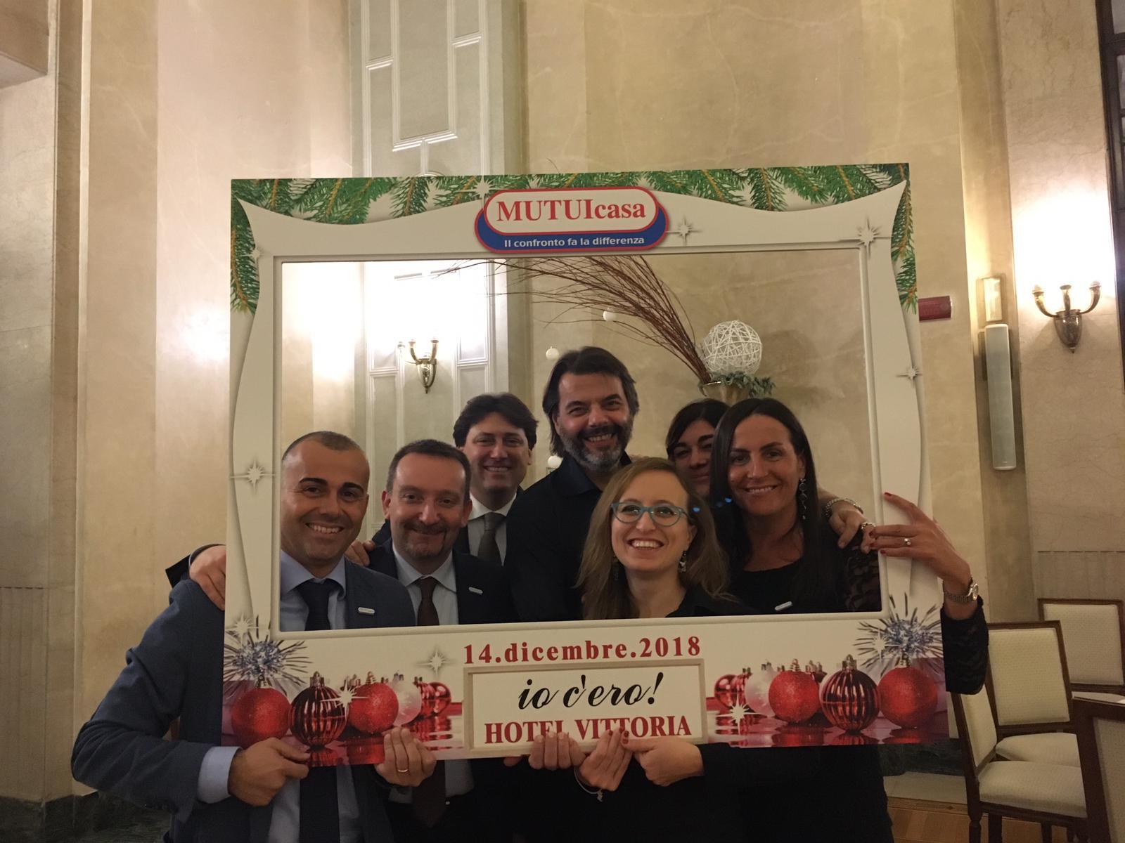 Foto ricordo 4 Christams Event organizzato da MUTUIcasa nel 2018