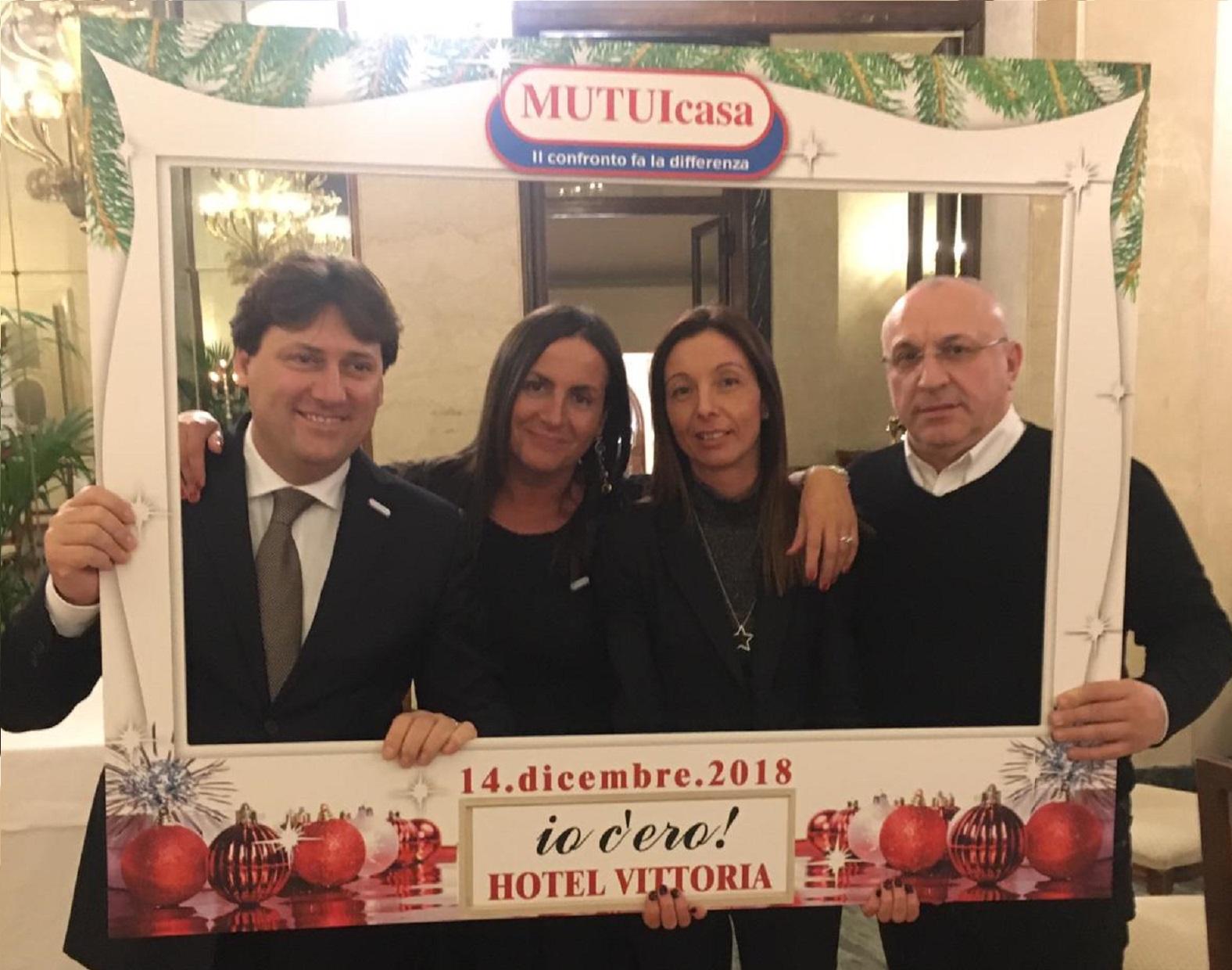 Foto ricordo 7 Christams Event organizzato da MUTUIcasa nel 2018